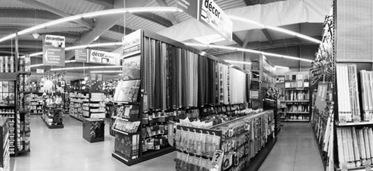 intérieur d'un magasin Bricomarché