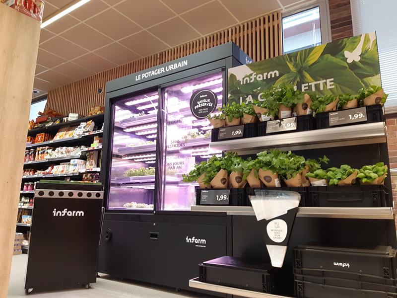 Intermarché teste de nouvelles solutions d'agriculture urbaines