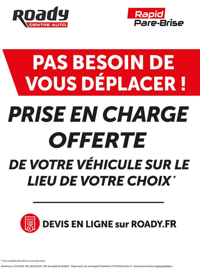 Affiche Roady Rapid Pare-Brise nouveau service prise en charge