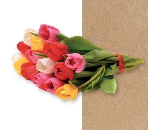 bouquet de tulipes Intermarché