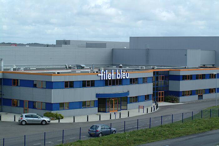 Façade de l'usine Filet Bleu d'Agromousquetaires