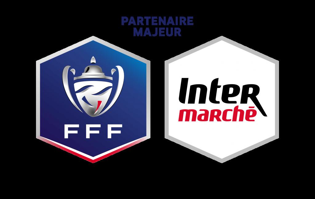 Logo FFF et Intermarché partenaire majeur