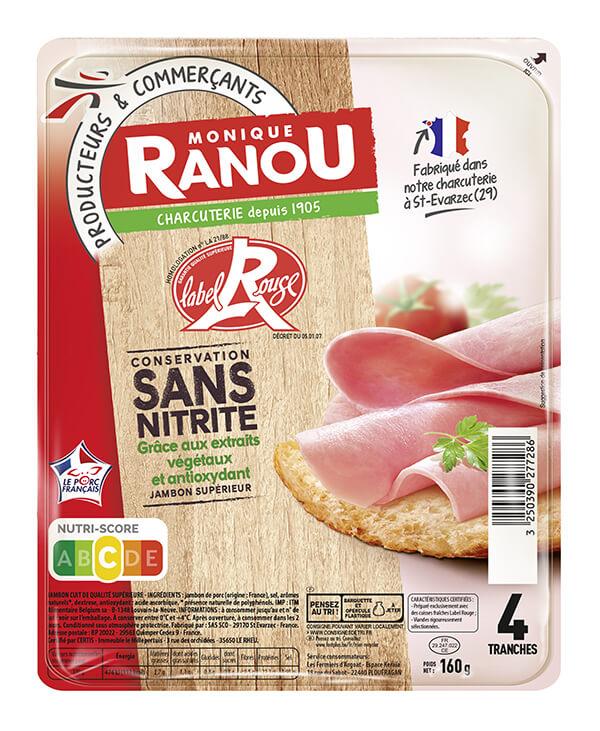 Jambon label rouge Monique Ranou sans nitrite
