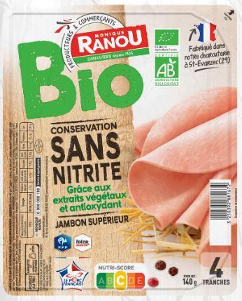 Jambon Bio sans nitrite Monique Ranou